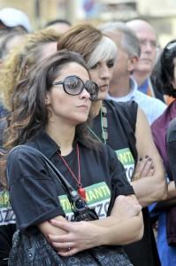 Roma, sit-in dei lavoratori precari davanti al Pantheon