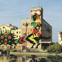 DOPO. Treviso, la fabbrica di Silea. (Bozzetto di Giovanna Pistone, in arte Gio, è nata a Roma) Ha all'attivo murales e mostre in tutta Italia e, dopo aver co-fondato il collettivo di artiste Serpeinseno, da circa cinque anni lavora sola. Sul Fatto Quotidiano di lunedì 17 novembre 2014