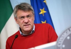 Conferenza stampa a Palazzo Chigi dopo l'incontro tra Landini e Renzi