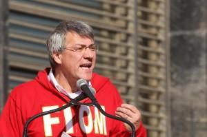 Corteo manifestazione FIOM a Napoli