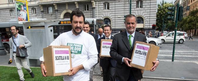 """Legge Fornero, Lega: """"Ok della Cassazione a 500mila firme per il referendum"""""""