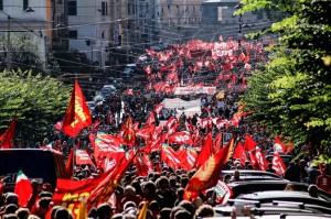 Manifestazione nazionale Cgil a Roma