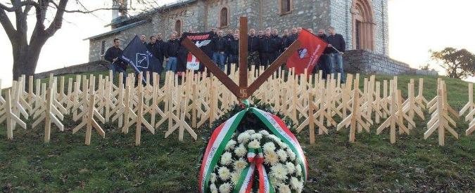 Monte San Martino, profanato con simboli nazisti il sacrario dei partigiani