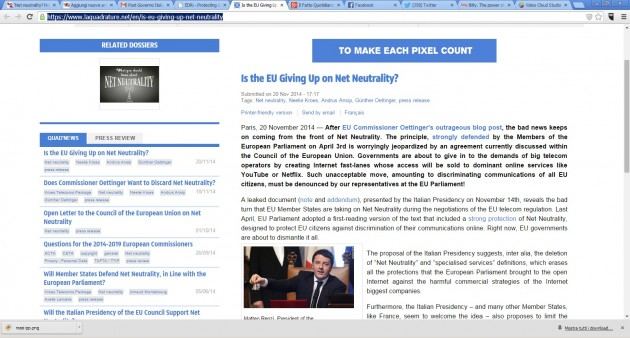 net neutrality renzi