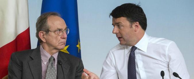 """Legge Stabilità, Renzi vuol pagare bonus a 18enni e spese sicurezza aumentando subito deficit. Padoan """"perplesso"""""""