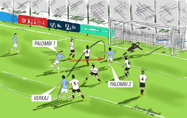 Lazio - Palermo 3-1; terzo gol di Simone Palombi