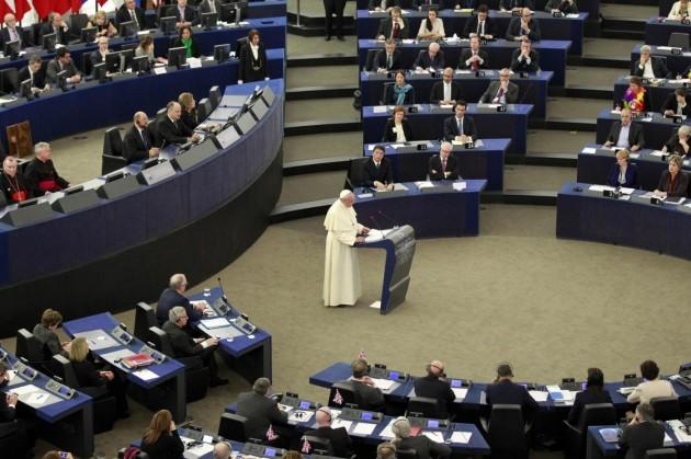 Papa Francesco in visita a Strasburgo