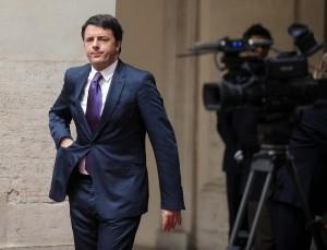 Matteo Renzi riceve a Palazzo Chigi, il Presidente della Repubblica di Polonia, Bronislaw Komorowski