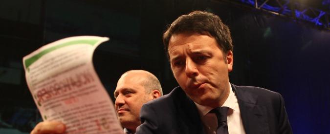 """Renzi a Landini: """"Siamo di sinistra, non abbiamo bisogno dell'esame del sangue"""""""