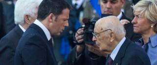 """Riforme, Renzi al Colle. Napolitano: """"Percorso con ampio arco forze politiche"""""""