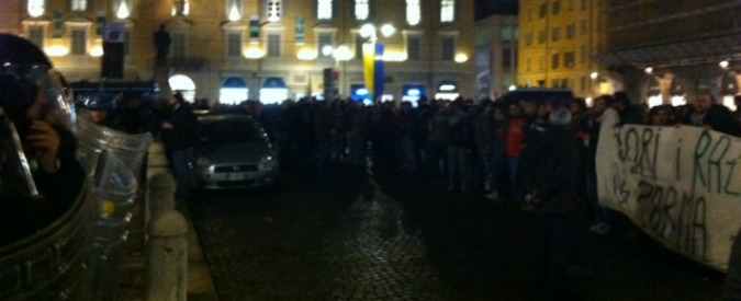 Parma, tensione per la visita elettorale di Salvini. E il comizio dura pochi minuti