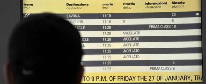 Sciopero treni venerdì 25 novembre 2016, orari Trenitalia, Trenord e Italo Ntv