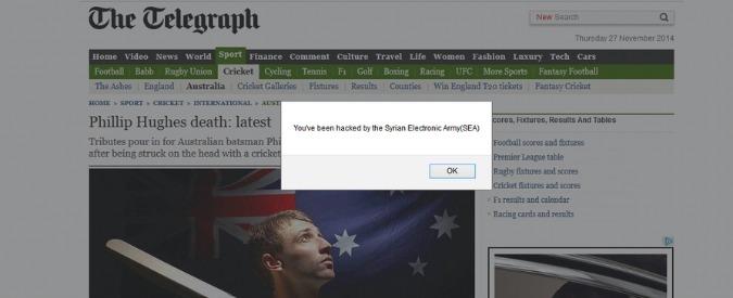 Hacker siriani attaccano i siti dei giornali. Nel mirino anche l'Italia