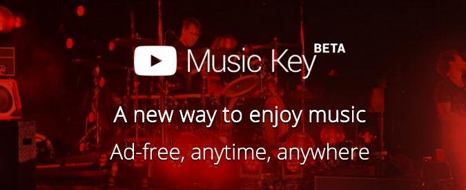 YouTube a pagamento: con Music Key canzoni in video o audio senza pubblicità
