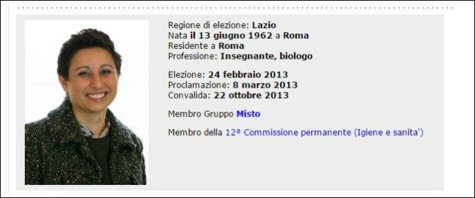 """Senato, l'ex M5s Anitori passa ad Area popolare: """"Sosterrò il governo Renzi"""""""