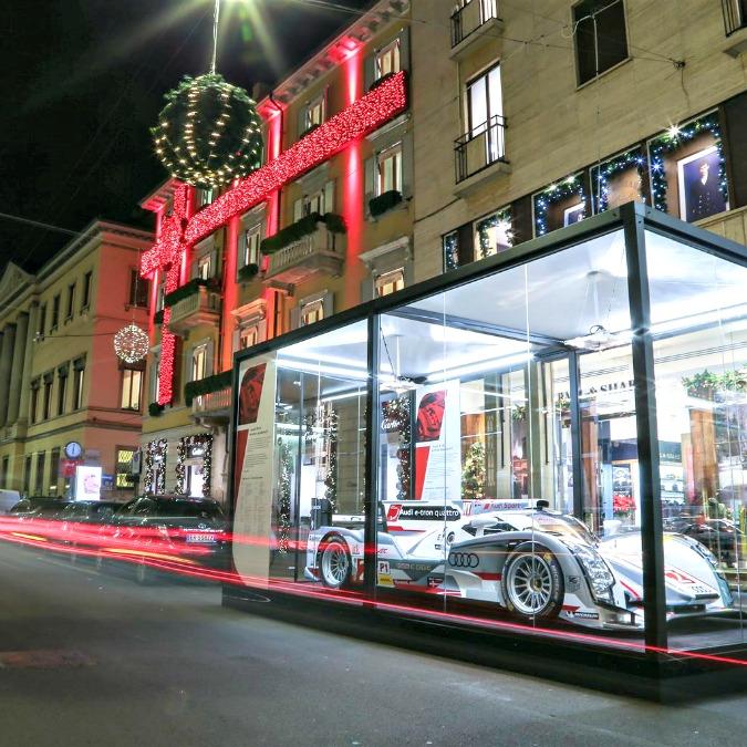 Audi in via Montenapoleone, il brand tedesco nel cuore del lusso milanese