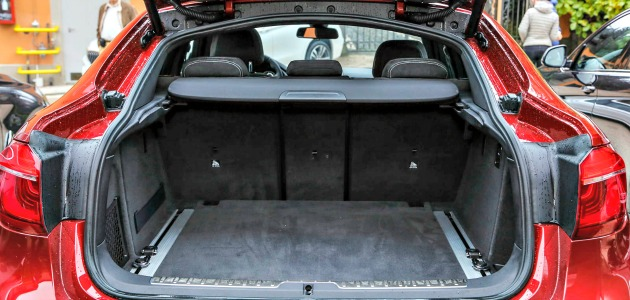 BMW X6 prova Fatto Q bagagliaio