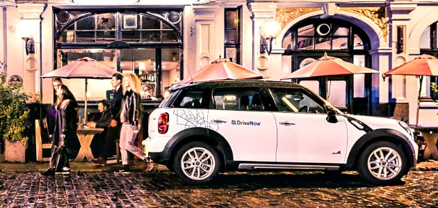 DriveNow car sharing BMW Mini
