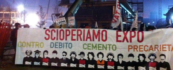 """Expo, blitz dei collettivi nel cantiere a Milano: """"Qui diritto di sciopero negato"""""""