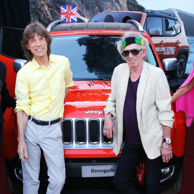 Una Jeep Renegade autografata dai Rolling Stones all'asta per beneficenza