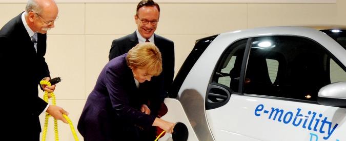 Auto elettriche in Germania, il milione è lontano. Merkel pensa a nuovi incentivi