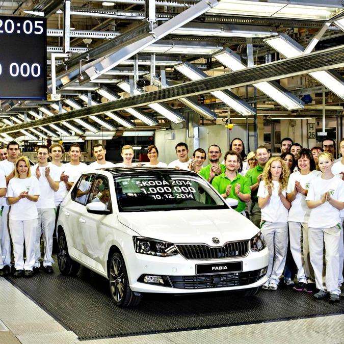 Skoda, per la prima volta un milione di macchine prodotte in un anno