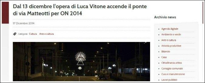 """Bologna, polemiche per luci di Natale con simbolo della P2. """"Ma è per far riflettere"""""""