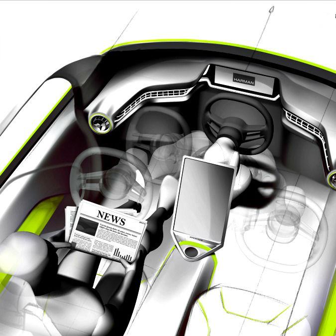 """Rinspeed Budii, e se l'auto del futuro avesse il volante """"pieghevole""""?"""