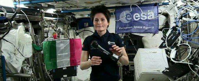 """Samantha Cristoforetti, prima conferenza spaziale: """"Terra bellezza perfetta"""""""