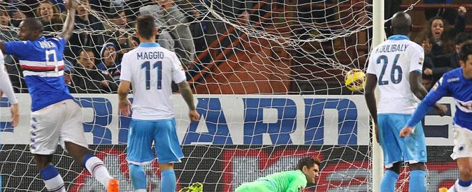 Sampdoria – Napoli, Zapata pareggia allo scadere: blucerchiati agguantati sull'1-1