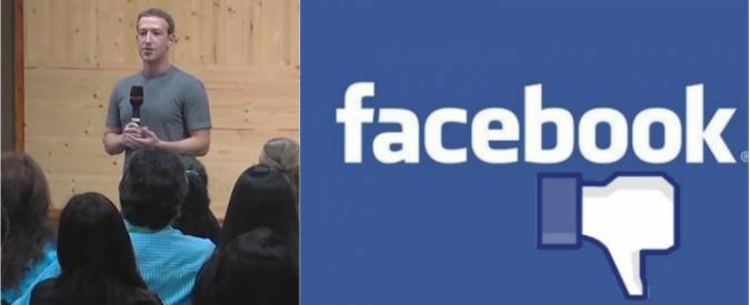 """Facebook, Zuckerberg: """"Valutiamo l'introduzione del tasto 'Non mi piace'"""""""