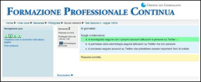 Formazione per giornalisti: la risposta 'corretta' che sconsiglia di seguire Twitter