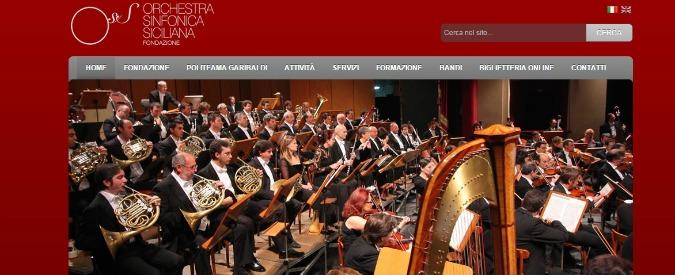 Orchestra sinfonica siciliana senza stipendio, cda, bilancio. Teatro a rischio