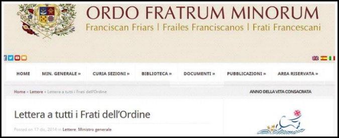 Crac francescani, linee guida per beni ordini scritte da ministro frati minori