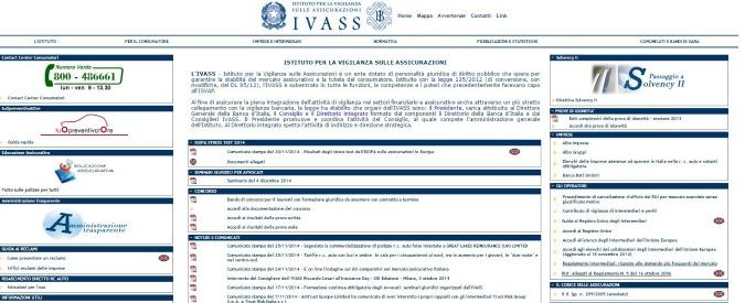 """Assicurazioni, vigilanza Ivass: """"Prudenza con dividendi e bonus"""""""