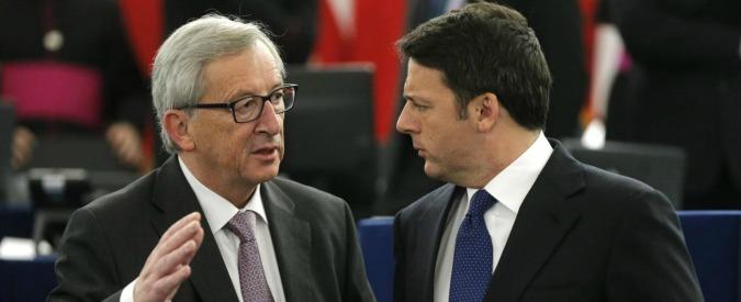 """Migranti e flessibilità, Juncker contro Renzi: """"Offende la Commissione Ue"""". Renzi: """"Non ci facciamo intimidire"""""""