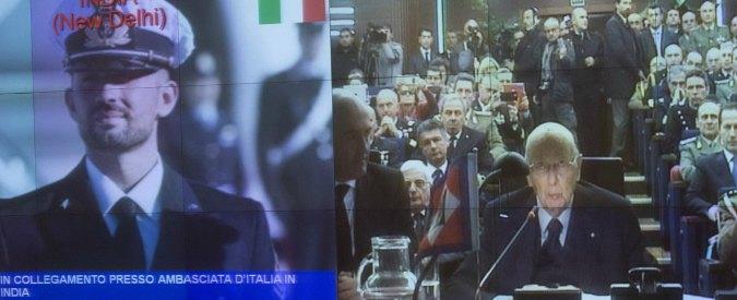 """Marò, Napolitano: """"Dalle autorità indiane scarsa volontà di risolvere la vicenda"""""""