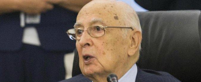 """Napolitano: """"Colpisce dilagare corruzione. No a protagonismo dei magistrati"""""""