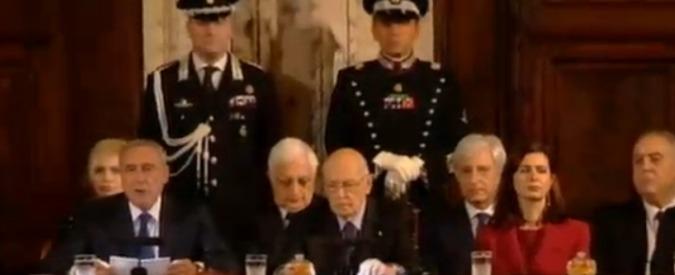 Napolitano, la cerimonia per lo scambio degli auguri di fine anno. La diretta