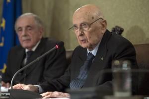Giorgio Napolitano nel discorso all'Accademia dei Lincei