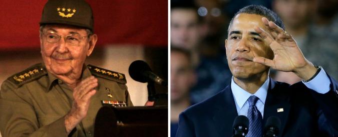 """Cuba-Usa, Obama: """"Embargo superato"""". Castro: """"Blocco economico deve finire"""""""