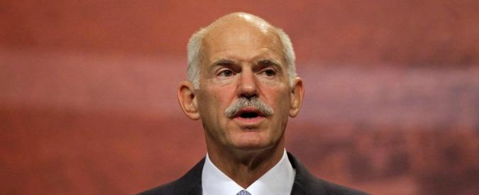 """Grecia, ex premier Papandreou: """"Ue sia più integrata o cresceranno nazionalismi"""""""