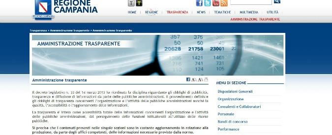 Regione Campania, la valutazione dei dirigenti non c'è. I bonus? Pagati lo stesso