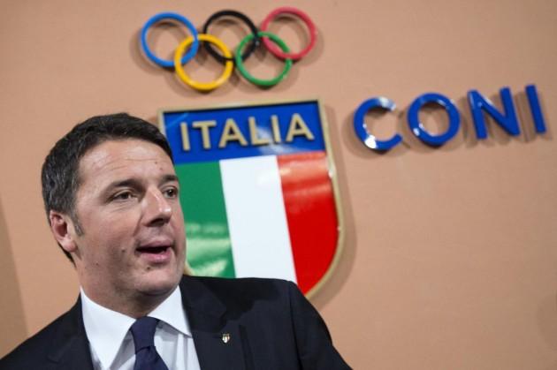 Coni - Matteo Renzi annuncia la candidatura di Roma alle Olimpiadi 2024