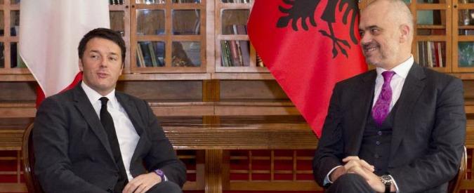 "Renzi ""sponsor"" dell'Albania in Ue. Rama: ""Qui niente sindacati e tasse al 15%"""