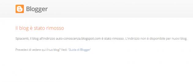 rimozione blog