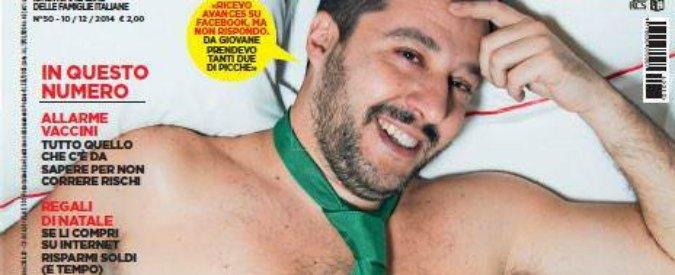 "Salvini ""desnudo"" in copertina su Oggi: ""Ricevo avances su Facebook"""