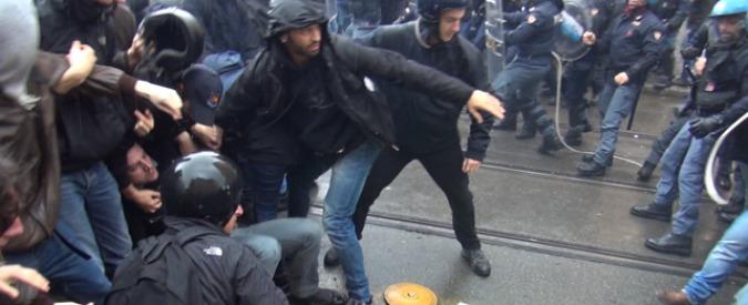 Jobs act, scontri al corteo in centro a Roma: 6 feriti tra agenti e manifestanti