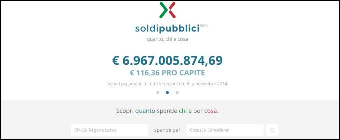 Soldipubblici.gov.it, Renzi annuncia sito per trasparenza. Brutta copia di Siope.it