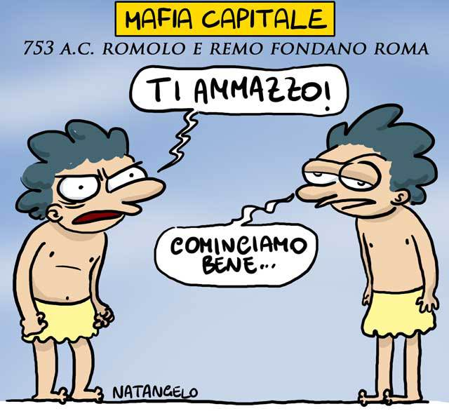 La vignetta del giorno: Mafia Capitale